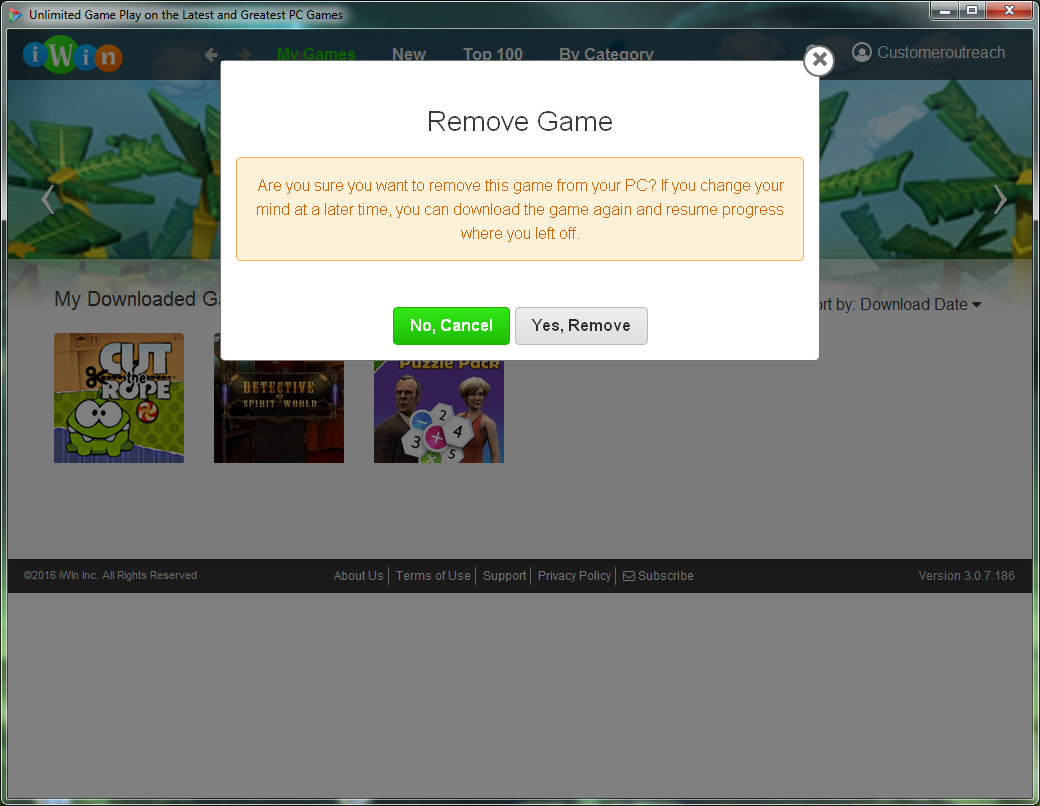 How Do I Uninstall A Game From The Iplay Desktop Application
